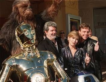 """Star Wars"" / George Lucas, Carrie Fisher and Mark Hamill"