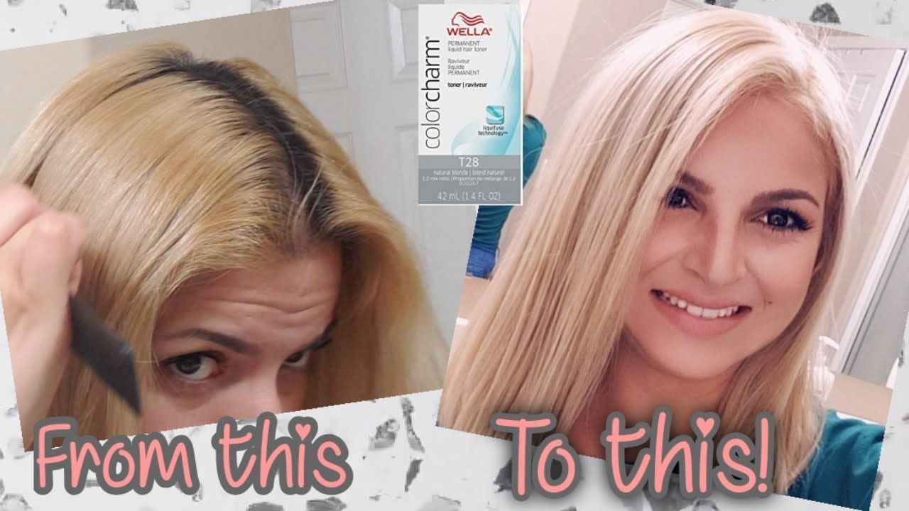 Bleaching My Roots Toning With Wella T28 Youtube In 2020 Wella T28 Wella Hair Toner T28 Wella Toner
