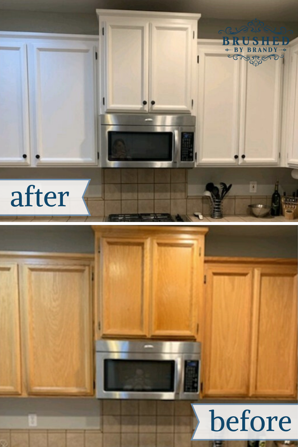 Diy Painted Kitchen Cabinet Makeover Learn How To Paint White With In 2020 Diy Kitchen Cabinets Painting Chalk Paint Kitchen Cabinets Painting Kitchen Cabinets White
