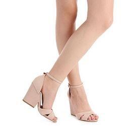 acfee60cf Sandália Salto Feminina Lara - Nude | Shoes | Shoes, Heels e Fashion