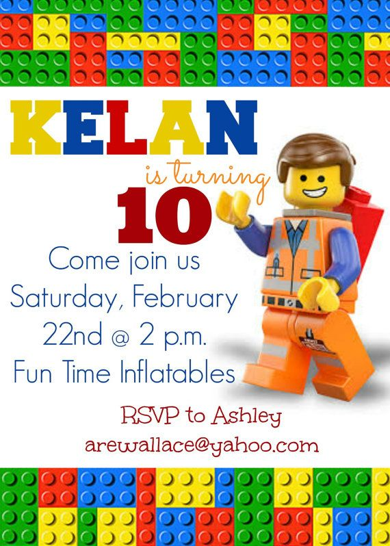 Lego Movie Party Invitation By SocialButterflies98 On Etsy 850