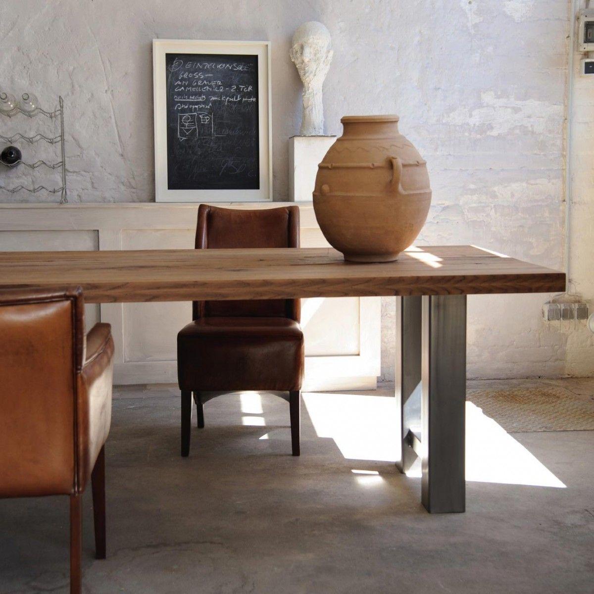 Tisch Romo Braun Silber L 180 Cm B 90 Cm H 78 Cm Tisch Dekor