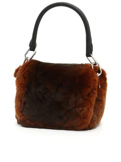6e4c2f13f973 ALEXANDER WANG Mini Rex Bag In Rabbit Fur.  alexanderwang  bags  hand bags   fur  lining
