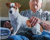 Who Rescued Whom?, Giclee from original colored pencil by Margi Hopkins of Pepper Portraits LLC