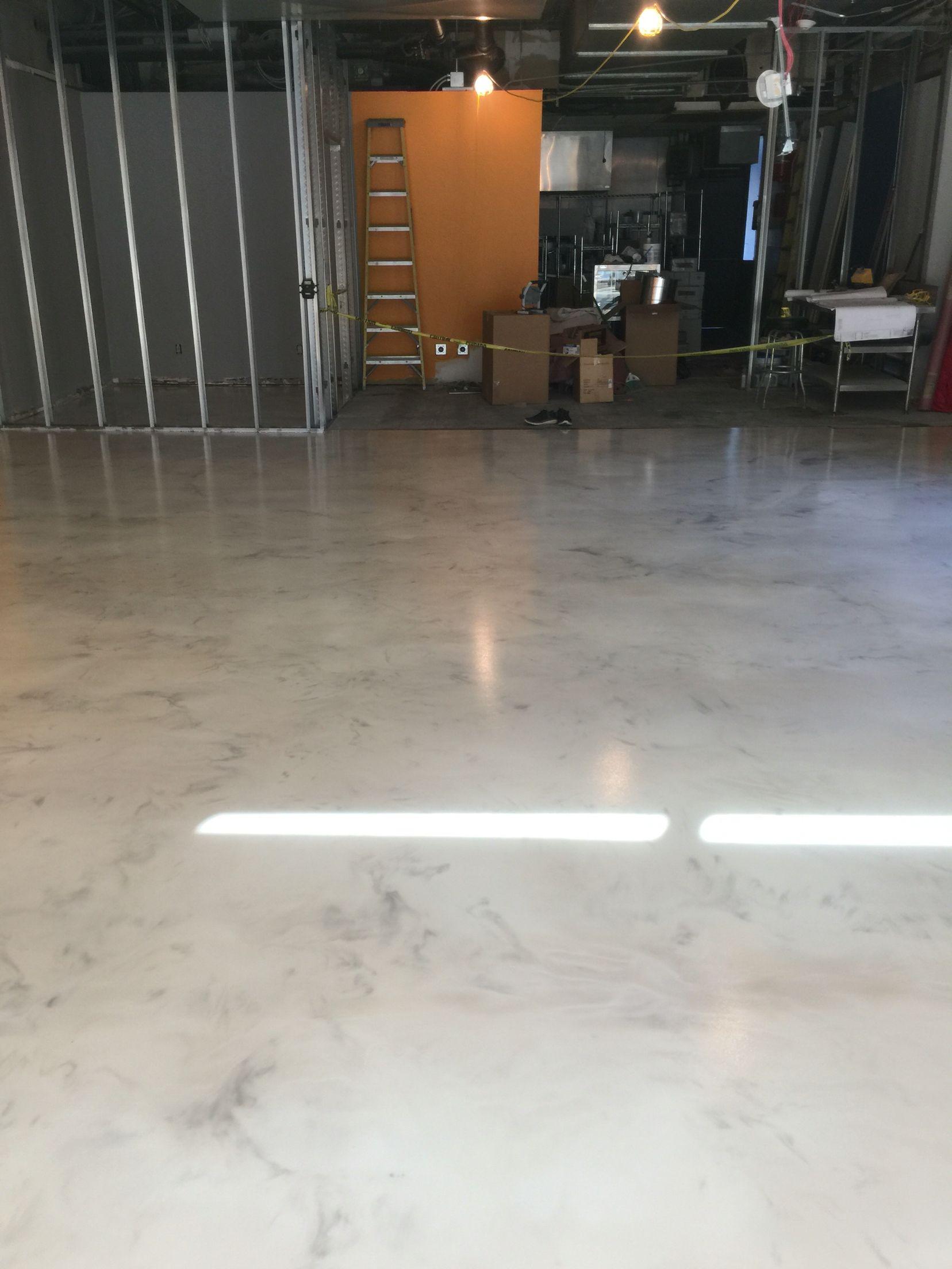 Metallic Epoxy Floor Coating For A Korean Restaurant By Sierra - Epoxy floor coating for restaurants