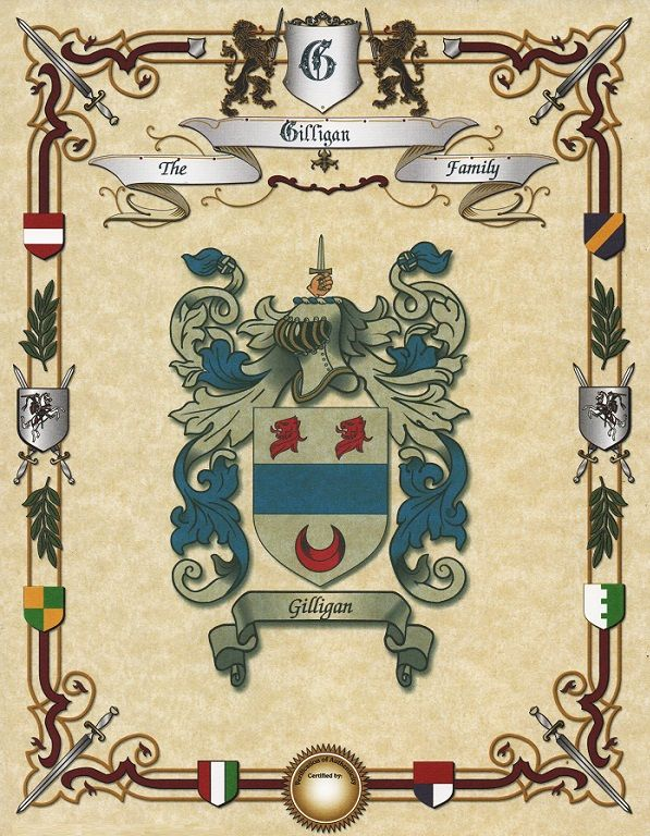 Coat of Arms - Print - This is an excellent gift for any family member or friend. Will show you the Coat of Arms with a family name on heraldic banner.</p>