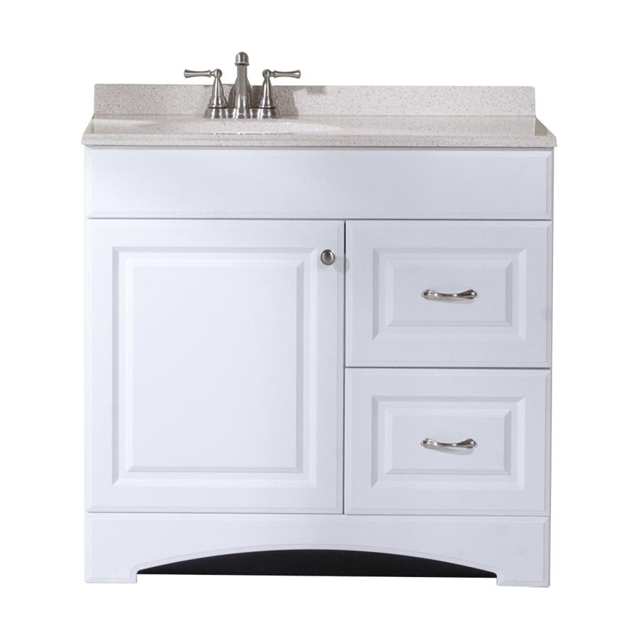 Shop Style Selections White Integral Single Sink Bathroom Vanity - 36 x 19 bathroom vanity for bathroom decor ideas