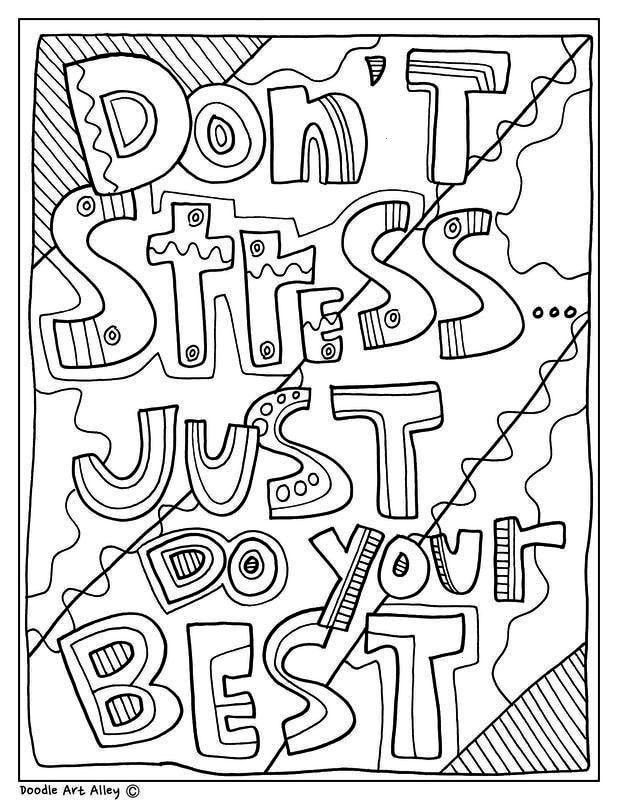 just do your best! Classroom Doodles from Doodle Art Alley - - - School - subjectsDon't stress just