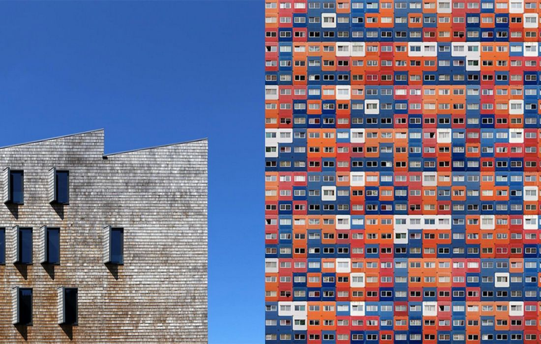 Amsterdam-based photographer Dirk Bakker has taken his love for perfect lines and geometric shapes and used it to create an exceptional photoseries. His architectural images capture the beauty of modern buildings, highlighting their bold colours and strict patterns. He uses skillful editing to take his photos and turn them into artworks, composed of repeated collages of his cityscape shots. His Instagram  takes the best of his photography, creating a mesmerising feed of shape and colour.