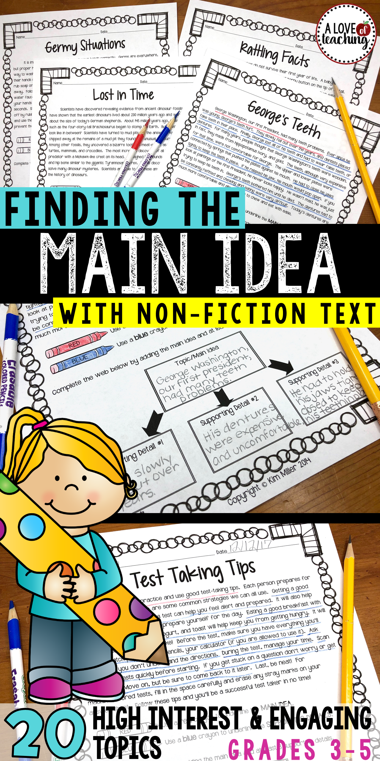 Main Idea Supporting Details Print And Digital Distance Learning Fiction Reading Passages Teaching Main Idea Nonfiction Texts [ 3008 x 1504 Pixel ]