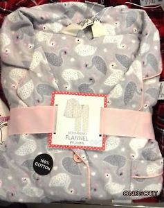 Swan Brushed Cotton Primark Ladies Pyjamas Set Boyfriend Flannel ... 46d566a41