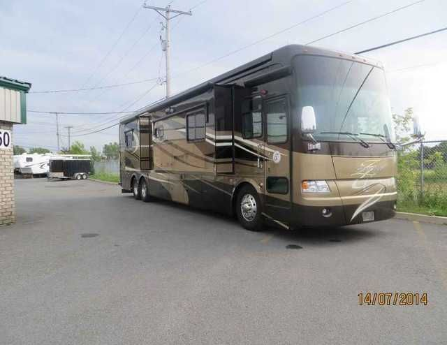 2010 Used Tiffin Motorhomes Zephyr 45QBZ Class A in Florida FL.Recreational Vehicle, rv, Porcelain tile, 4 TV, GPS, dishwasher, washer & dryer separate, electric shades (day&night), king bed, aqua hot heating, full bathroom, all electric coach, one-piece fiberglass roof, 2 carefree paramount awnings, key less entry, 12.5 kw Onan and much more. $226,900.00, 514-629-5679,