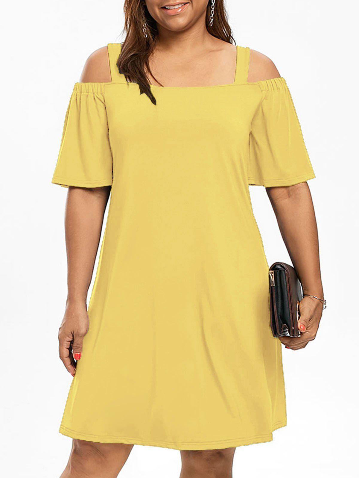 Half sleeve cold shoulder plus size dress cold shoulder shoulder