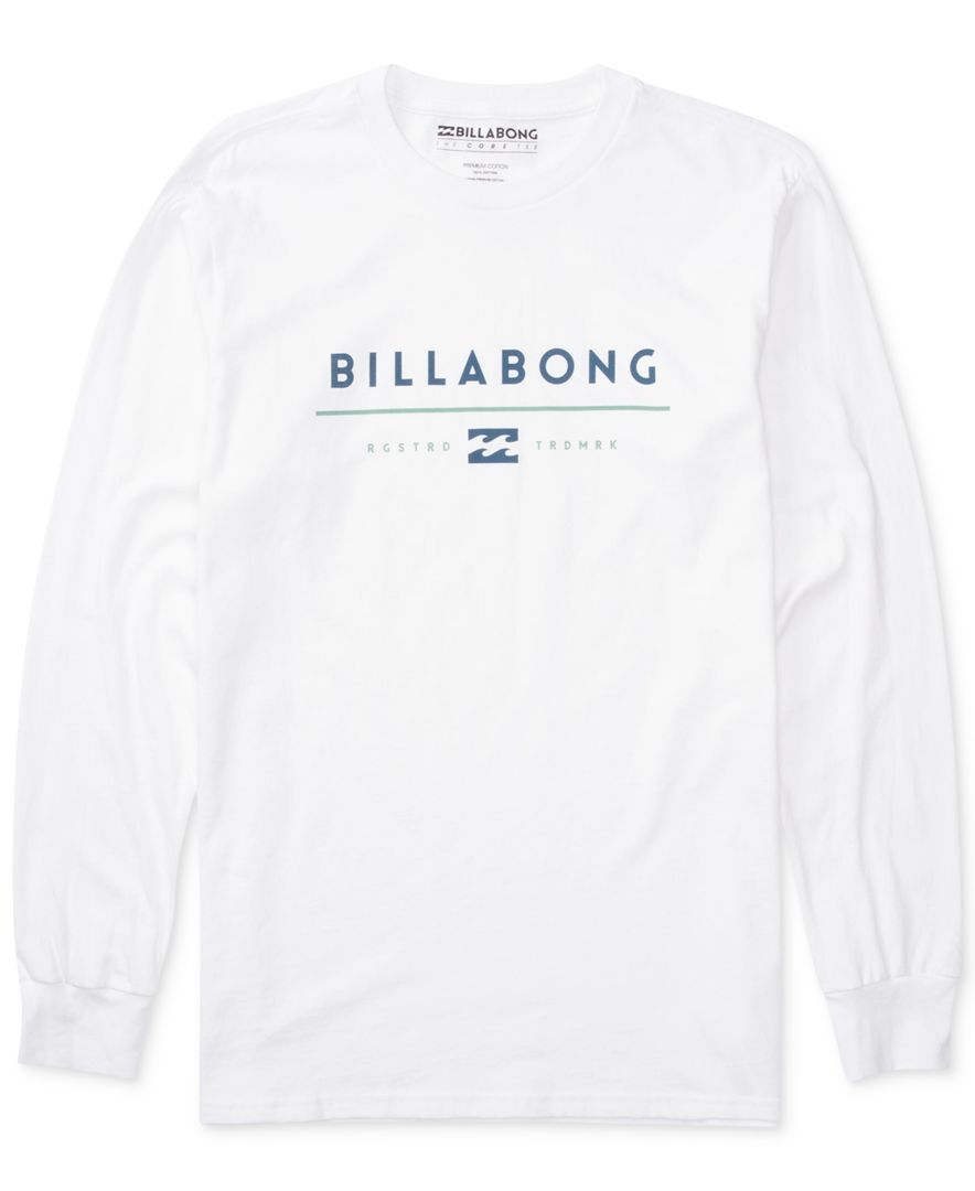 e036464431 Billabong Men's Understand Graphic-Print Logo Long-Sleeve T-Shirt ...