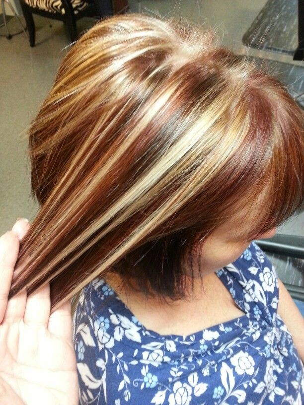 Cinnamon Base Color With Creamy Blonde Highlights And Chocolate
