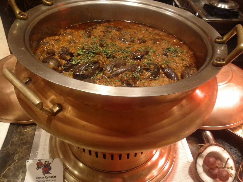 Tangy Egg Plant Curry Konkani Food Festival Itc Grand Central