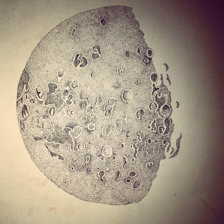 Aylen Moon dotwork moon | art, moon, drawings