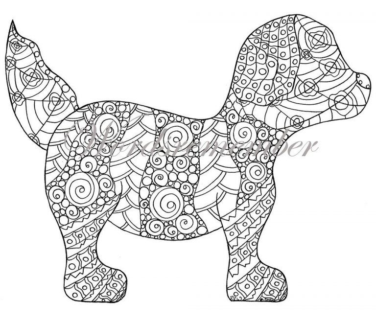 Dog Coloring Pages For Adults Playful Puppies Marjorie Sarnat Design Illustration Adults Pages Dog For In 2020 Puppy Coloring Pages Dog Coloring Page Dog Coloring Book