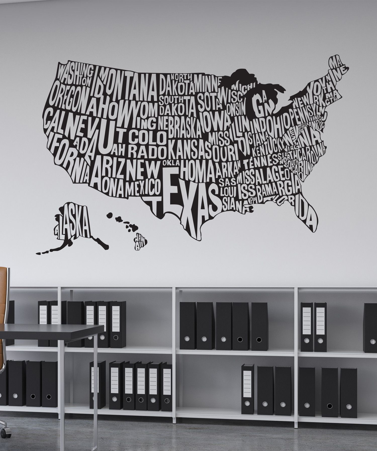 Vinyl Wall Decal Sticker United States Map Wall Decal - Us map wall decal