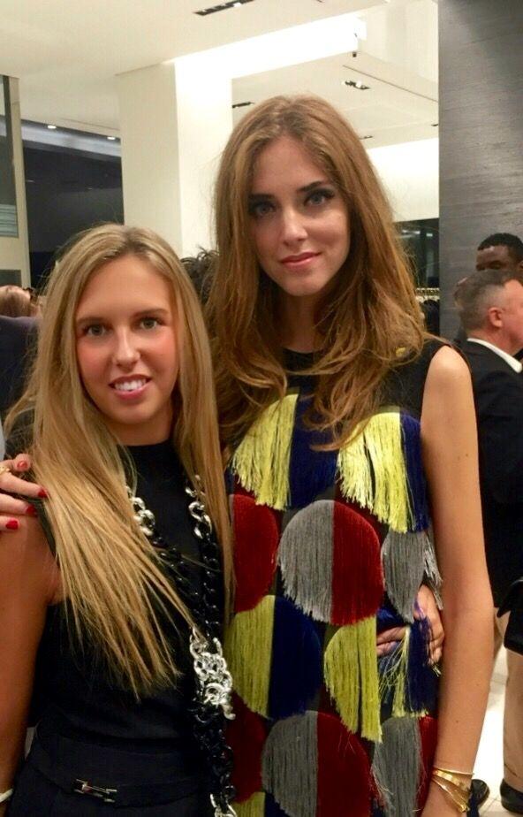 International fashion blogger Chiara Ferragni and actress Giorgia Marin attend the Gio Moretti's cocktail during the 2015 Milan Fashion Week.