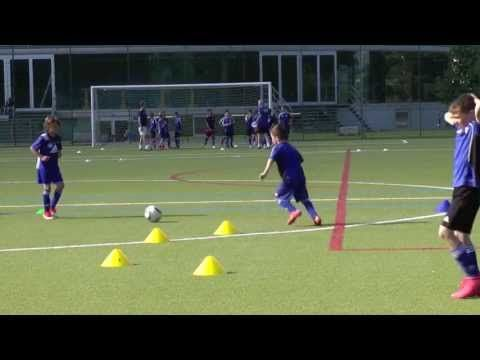 U10 Soccer 1v1 with Finishing Drill