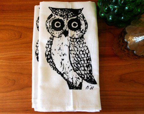 Owl Towel Set of Two  from Branch Handmade