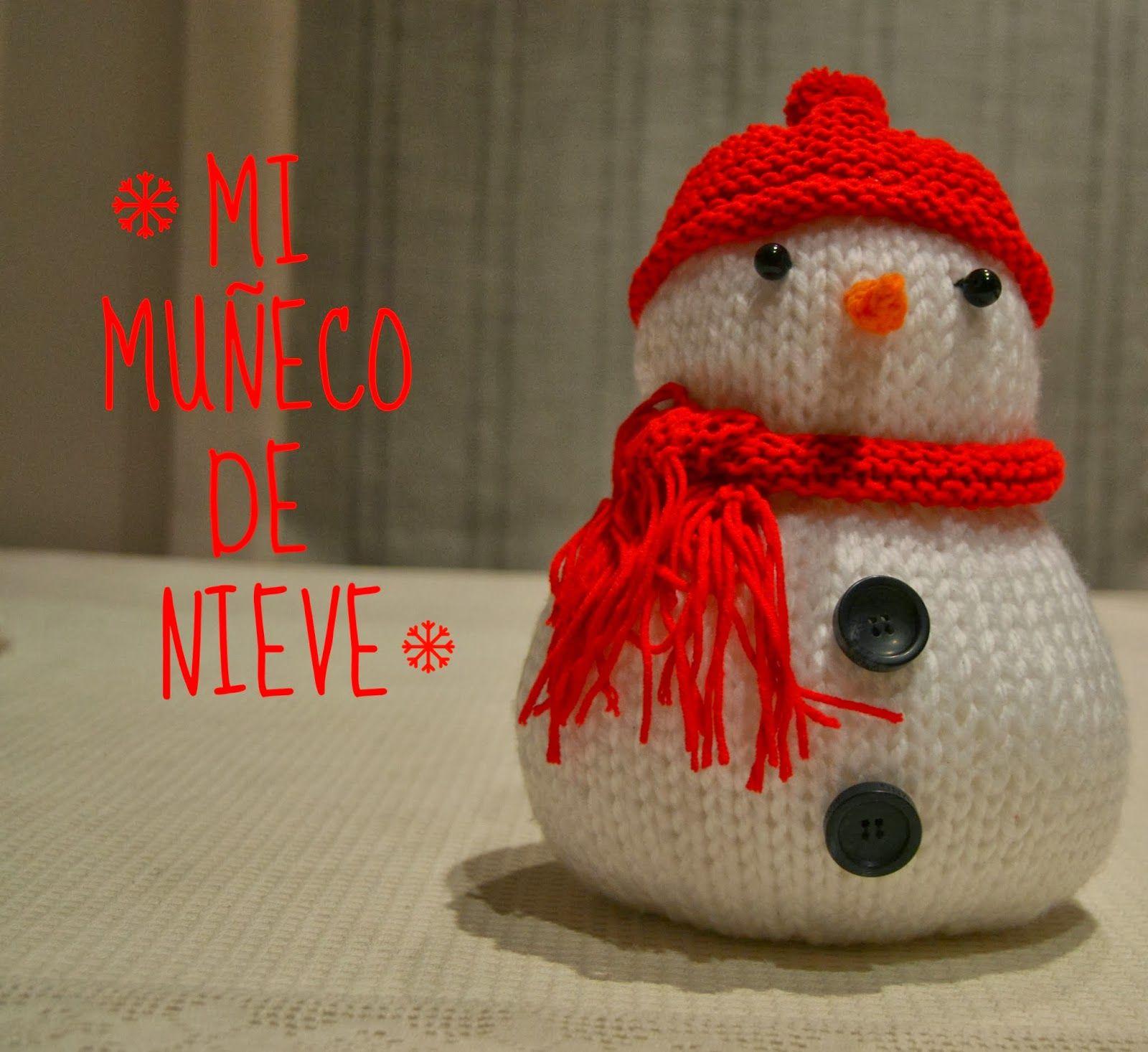 MISS PERCHAS!!!: MUÑECO DE NIEVE A DOS AGUJAS | Dos agujas ...