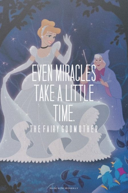 Even Miracles Take A Little Time The Fairy Godmother Ivy Made