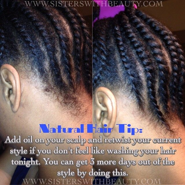Natural hair tip if you know youre not in the mood to do a full black hair solutioingenieria Gallery