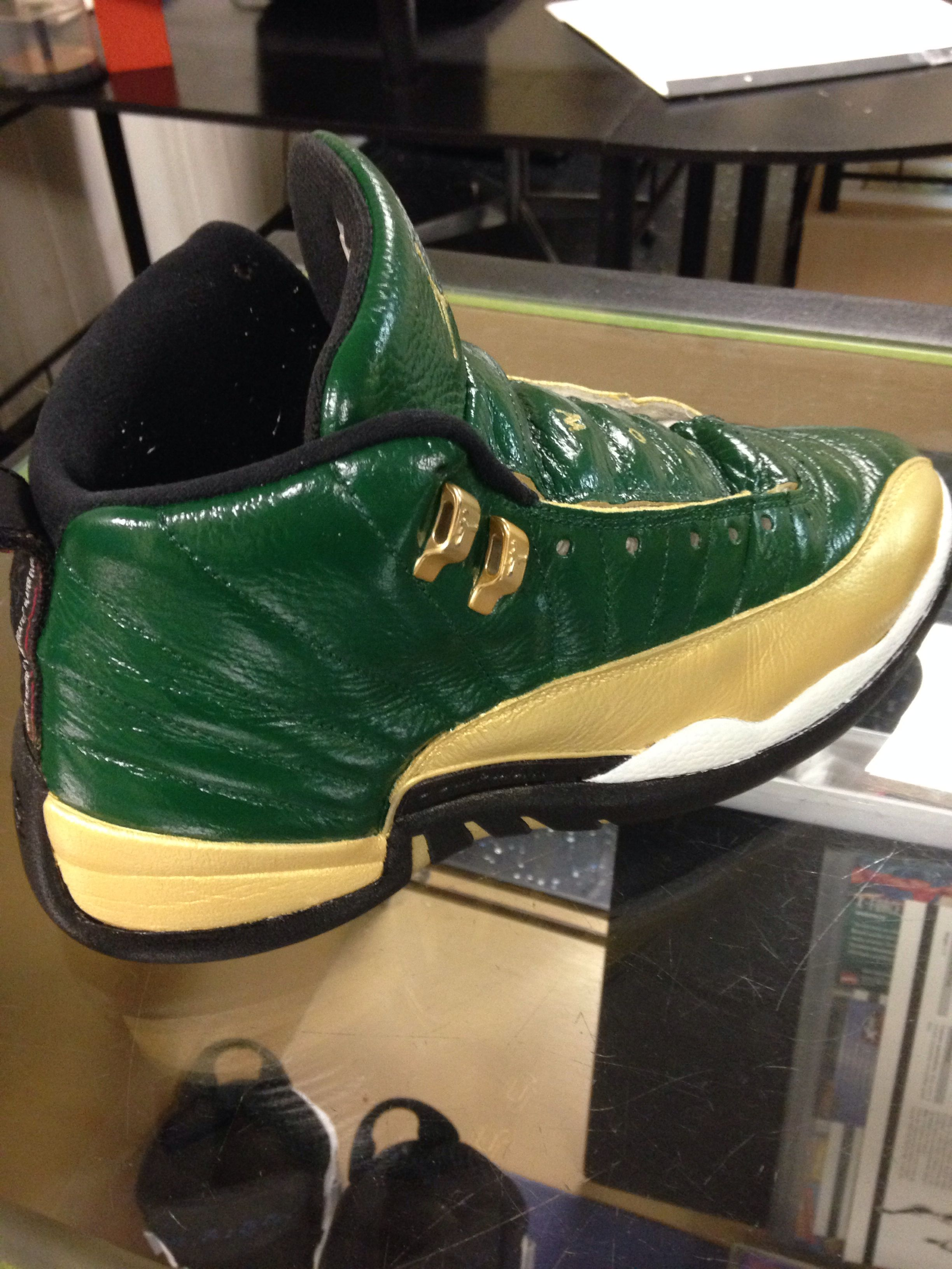 b42cfeebc98d0 Jordan celtics Boston Goat Angelus paint Dystinkd customz Custom Sneakers