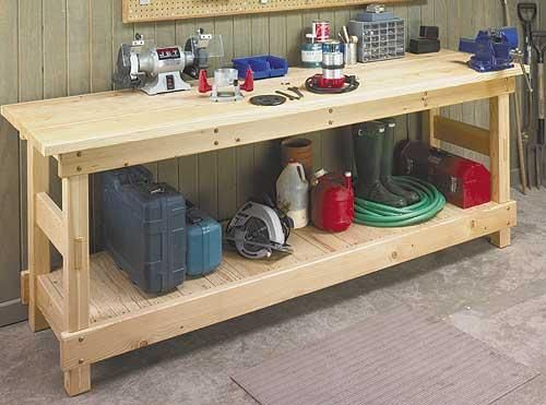 Excellent Garage Workbench Plans Lowes Garage Workbench Plans Camellatalisay Diy Chair Ideas Camellatalisaycom