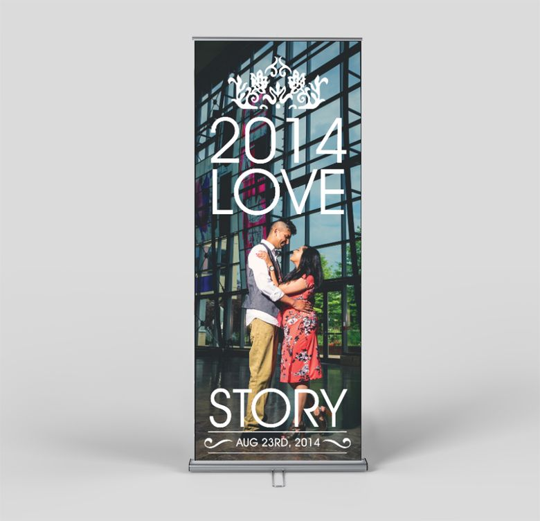 custom made wedding banner stand