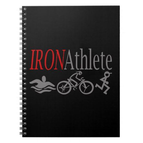 Triathlon Sport Swim Bike Run Iron Athlete Notebook