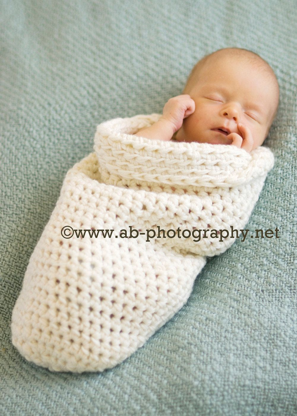 Newborn Cocoon, newborn photo prop, newborn wrap, crochet sleep sack ...