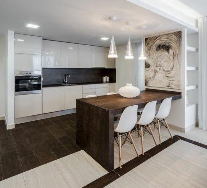 3 kreative wohnideen küche in weiß ofen lampen weiße stühle ...