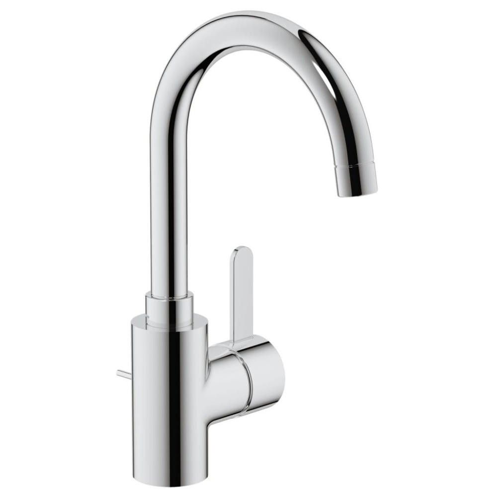 Grohe Eurosmart Single Lever High Spout Basin Mixer Tap With Waste Ideal For Single Tap Hole Basins Grohe Kitchen Faucet Faucet Parts Kitchen Faucet Parts