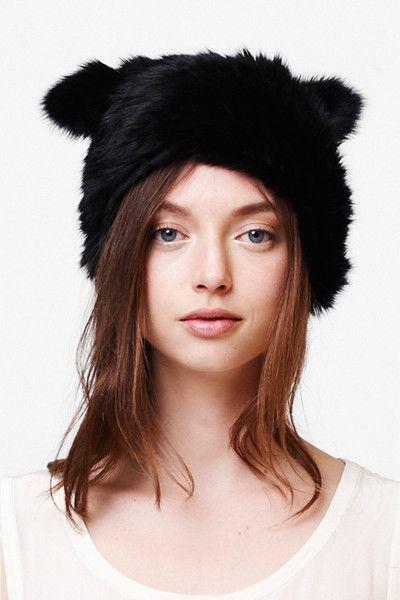 CHELSEA CAT BEANIE-BLACK