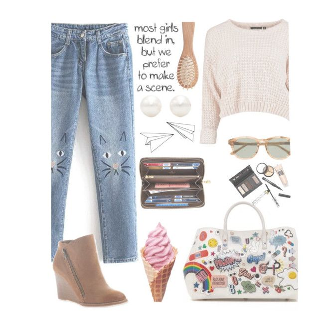 """""""YUP ♡♡"""" by colphi ❤ liked on Polyvore featuring Anya Hindmarch, Borghese, The Unbranded Brand, J.Crew, Tiffany & Co., Louis Vuitton and Hokus Pokus"""