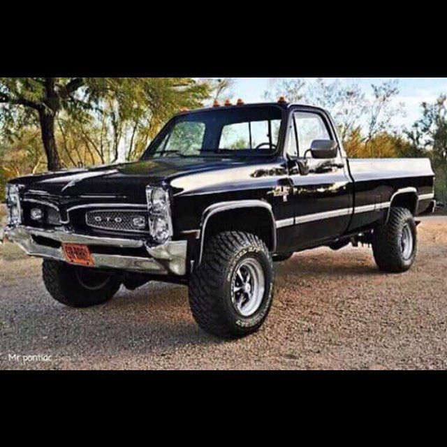 Lifted Muscle Car Yes Please: #squarebody #lifted #chevy # Pontiac #GTO #goat #classic