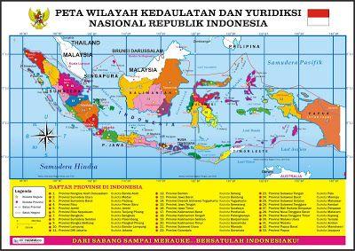 Peta Wilayah Kedaulatan Dan Yuridiksi Nasional Republik Indonesia Petacitra Blogspot Com Peta Indonesia Peta Dunia