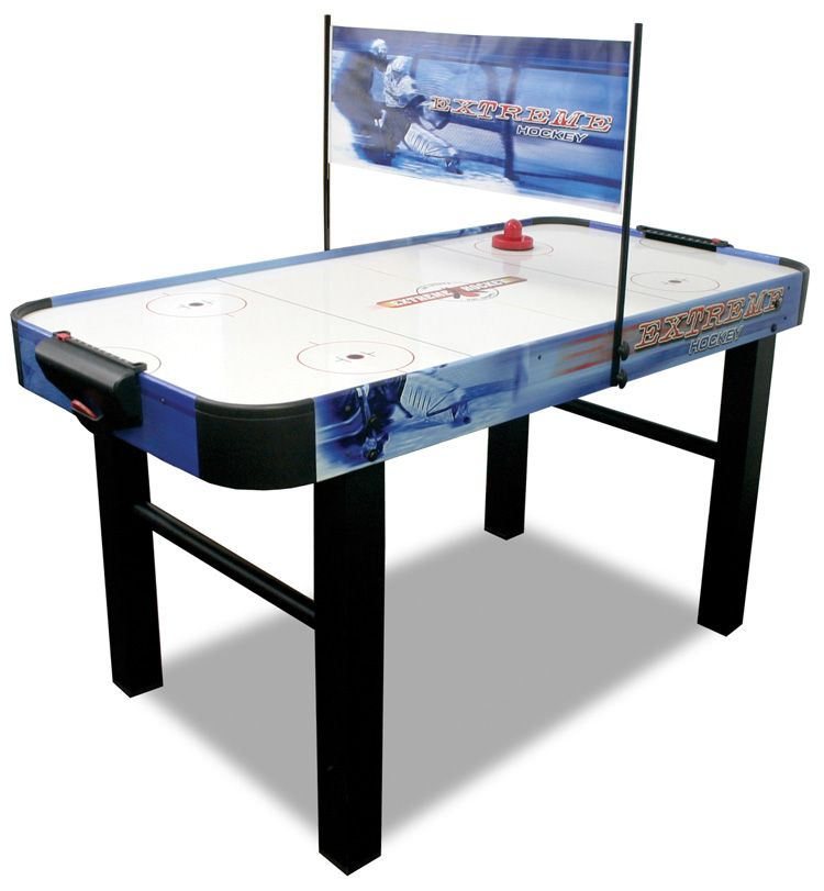 Action Packed Air Hockey Table With 120v Motor For Maximum Air Flowslick High Speed Pvc Playing Surface For Non Stop Arcade S In 2020 Air Hockey Table Air Hockey Table