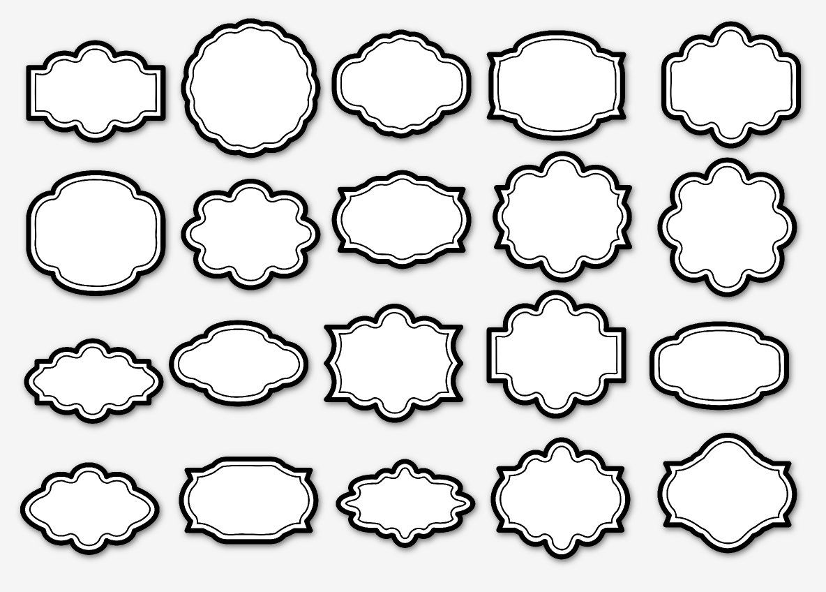 20 png white black bordered scrapbooking elements to be used as frames labels banner tags white and black may 2014 at