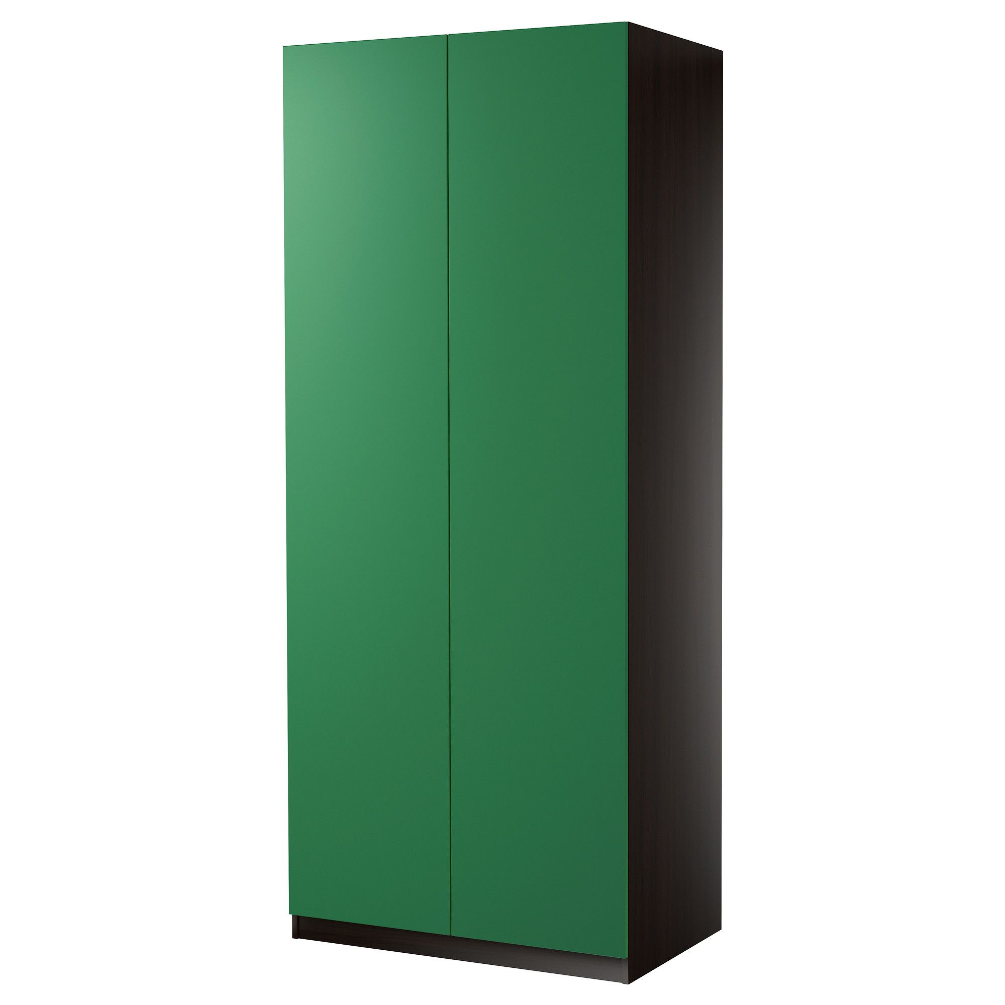 pax schrank mit 2 t ren tanem gr n schwarzbraun 100x38x201 cm scharnier ikea green. Black Bedroom Furniture Sets. Home Design Ideas