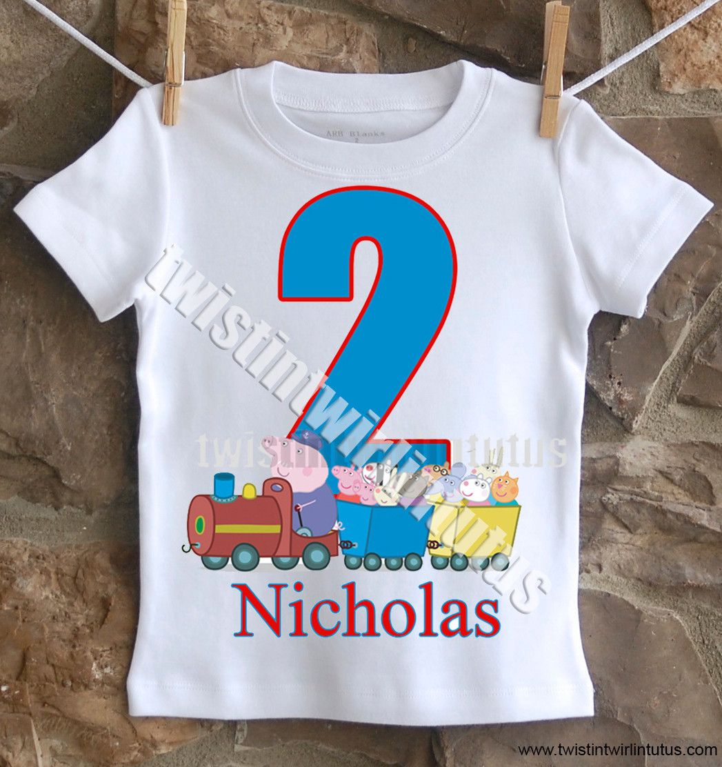 Boys Peppa Pig Birthday Shirt Birthday boy shirts