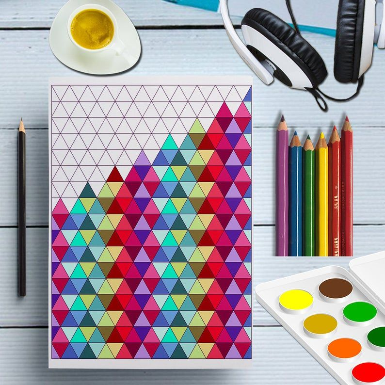 Printable Triangles Coloring Page Triangles Shape Prints