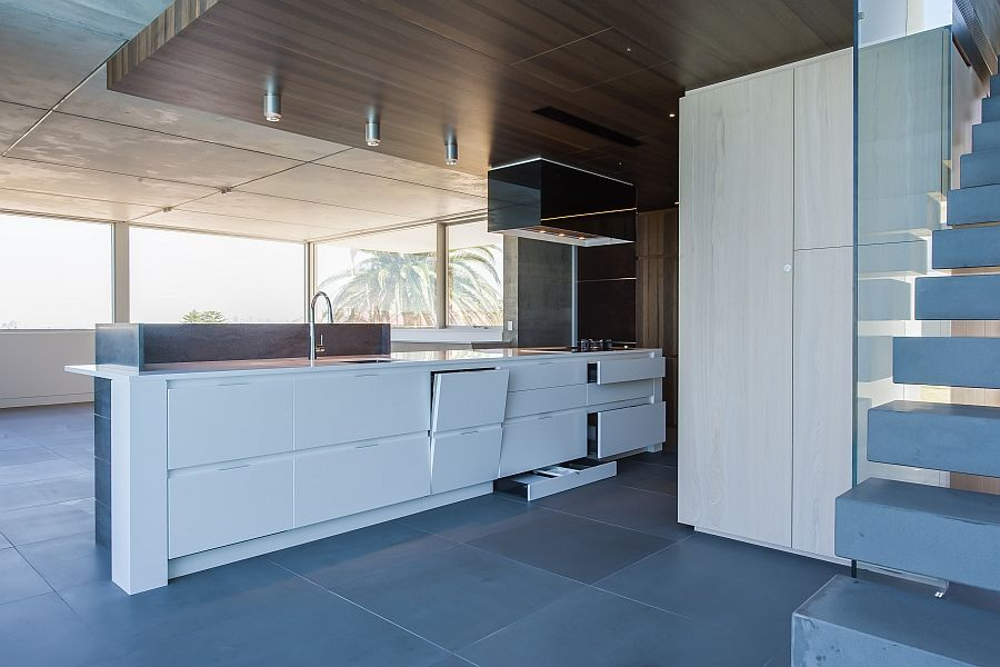 contemporary kitchen in sydney blends cutting edge style with savvy