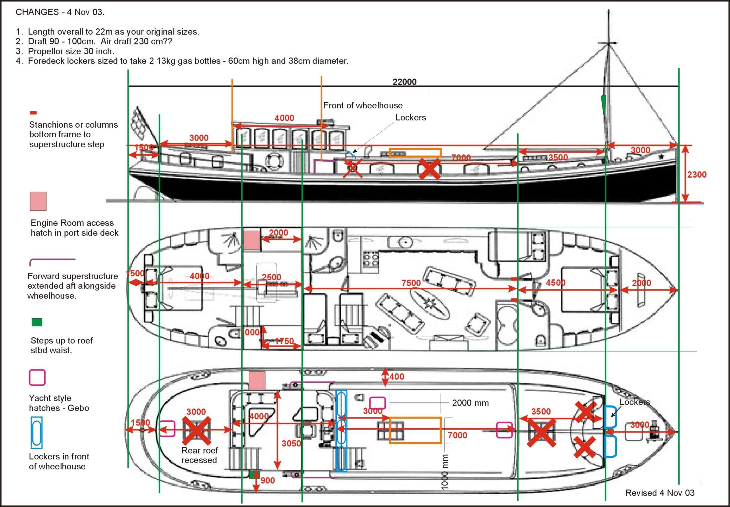 Diagram of KEI design Boats Pinterest Boating, Dutch