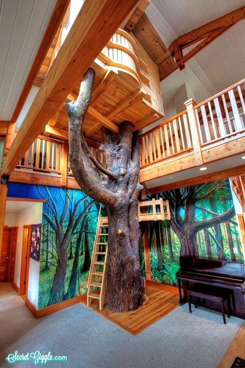 19 Amazing Dream Playrooms Indoor Tree House Tree House Designs