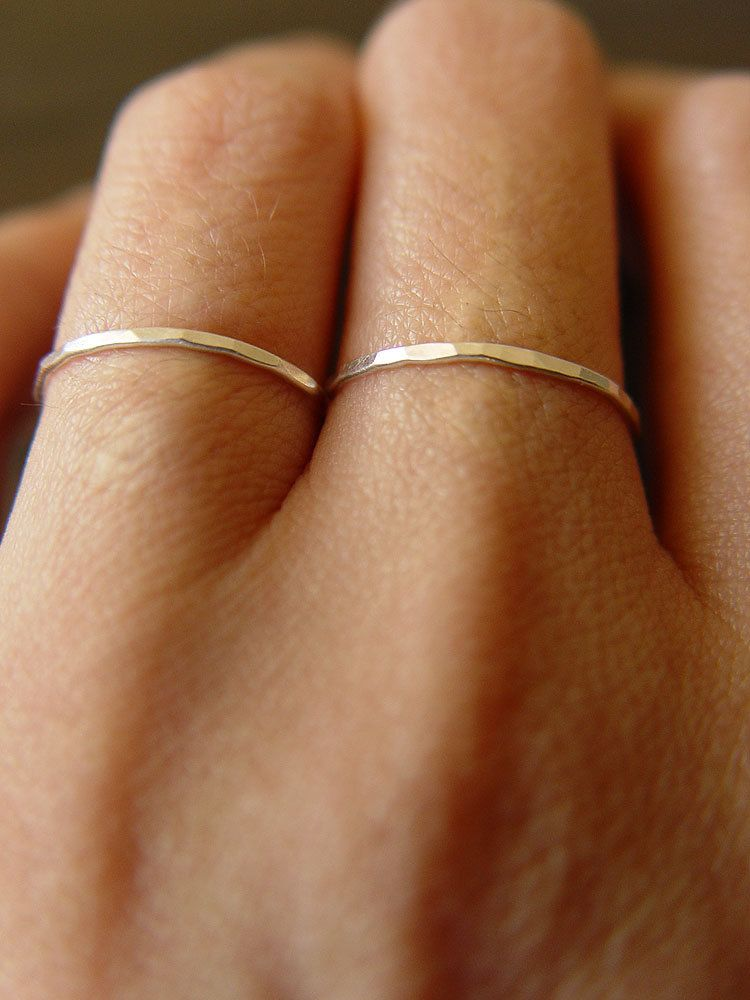 Delicate Double Knuckle Ring in Silver. $45.00, via Etsy.
