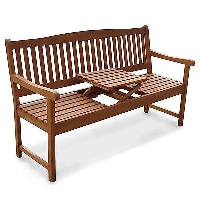 Sitzbank Klapptisch Gartenbank Mit Integriertem Tisch Klappbar